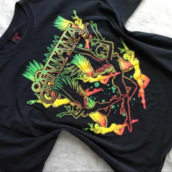 2cbf9d93a Carlos Santana Tops - Santana Graphic Band Concert Shirt Dancing Angels